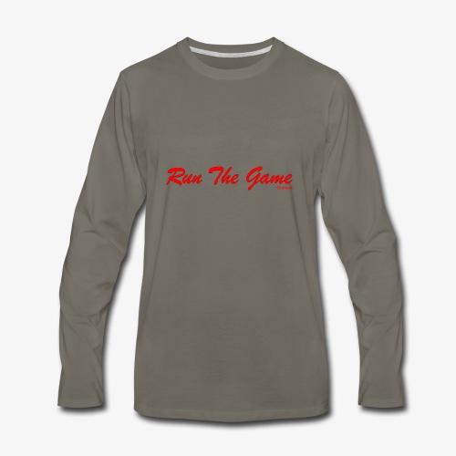 Run The Game Original Long Logo Design - Men's Premium Long Sleeve T-Shirt
