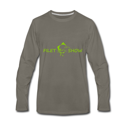 Green_logo_for_shirts - Men's Premium Long Sleeve T-Shirt