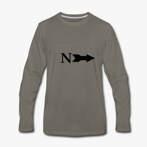 Narrow Logo Black - Men's Premium Long Sleeve T-Shirt