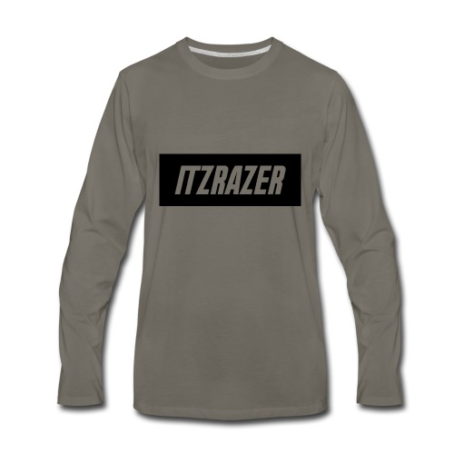 ITZRAZER LOGO - Men's Premium Long Sleeve T-Shirt