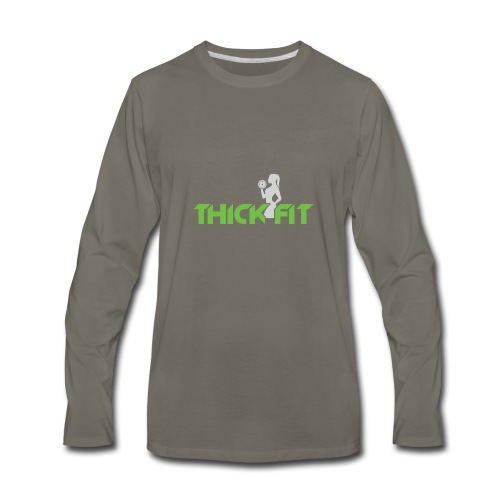 thick_fit_green_without_tag_line - Men's Premium Long Sleeve T-Shirt