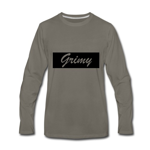 grimylogo - Men's Premium Long Sleeve T-Shirt