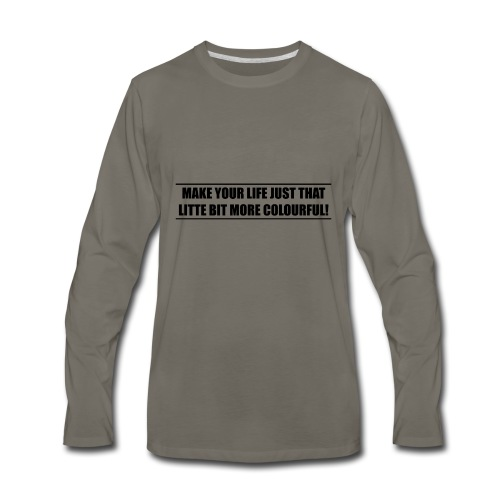 slogan - Men's Premium Long Sleeve T-Shirt