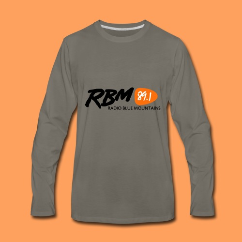 RBM Logo - Orange - Men's Premium Long Sleeve T-Shirt