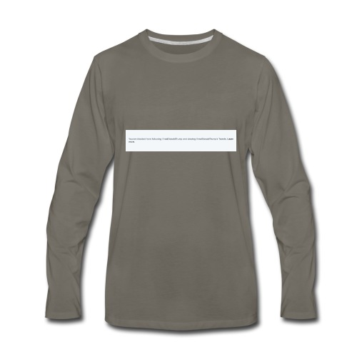 Blocked by Donald Trump on Twitter - Men's Premium Long Sleeve T-Shirt