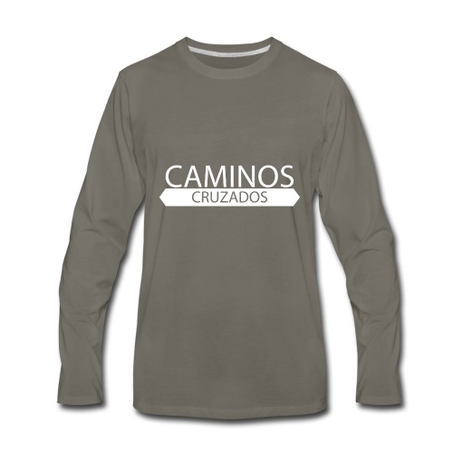 caminos cruzados logo blanco - Men's Premium Long Sleeve T-Shirt