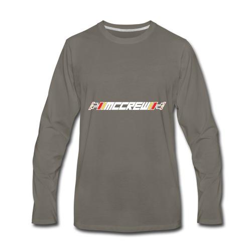 MCCREW back logo - Men's Premium Long Sleeve T-Shirt