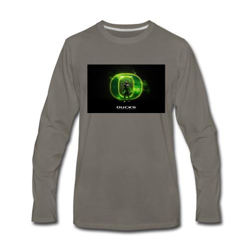 ducks_football_wallpaper - Men's Premium Long Sleeve T-Shirt