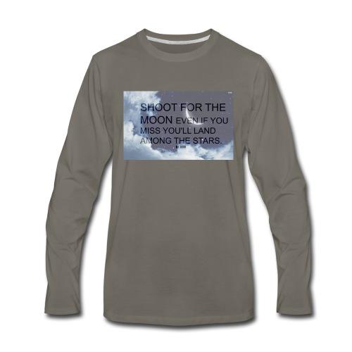 simple background white background wallpaper 1 - Men's Premium Long Sleeve T-Shirt