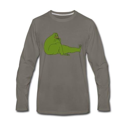 Smug Pepe - Men's Premium Long Sleeve T-Shirt