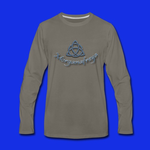 Morganafreya Celtic Knot Icon - Men's Premium Long Sleeve T-Shirt