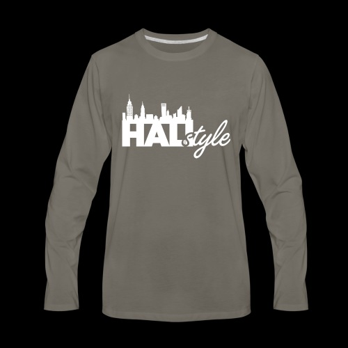 HALIStyle City Skyline - Men's Premium Long Sleeve T-Shirt
