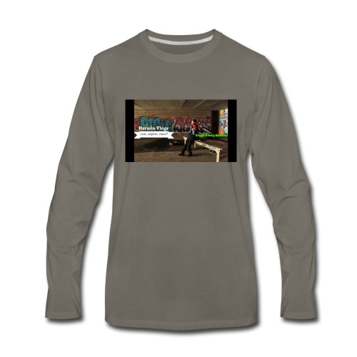 Harmin vlogs banner - Men's Premium Long Sleeve T-Shirt