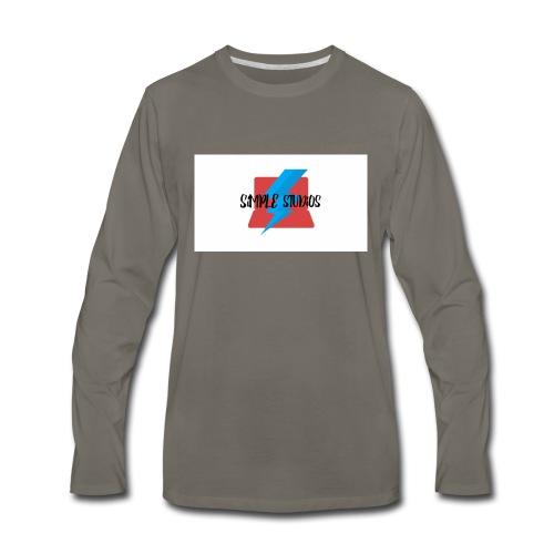 Simple Studios Prototype T-Shirt (White) - Men's Premium Long Sleeve T-Shirt