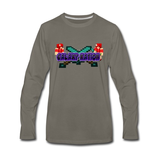 Galaxy Logo 1 - Men's Premium Long Sleeve T-Shirt