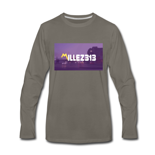 Millez313 with background Tee - Men's Premium Long Sleeve T-Shirt
