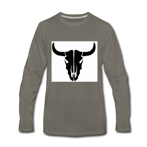 Longhorn skull - Men's Premium Long Sleeve T-Shirt