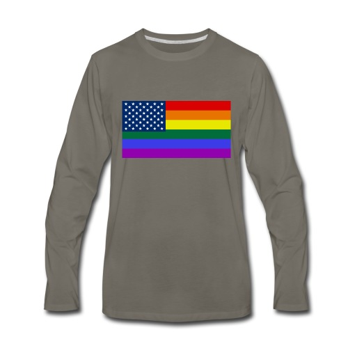 LGBT United States Flag - Men's Premium Long Sleeve T-Shirt