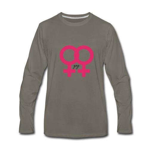gay. - Men's Premium Long Sleeve T-Shirt