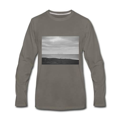Black and White Beach Photo by Trevor J. Brown - Men's Premium Long Sleeve T-Shirt