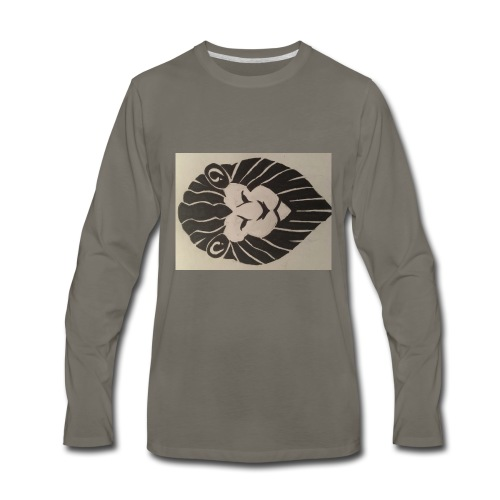 King Broccoli Logo - Men's Premium Long Sleeve T-Shirt