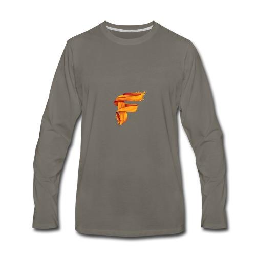 FlameyMC's Logo - Men's Premium Long Sleeve T-Shirt