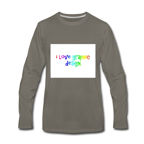 i love graphic design - Men's Premium Long Sleeve T-Shirt