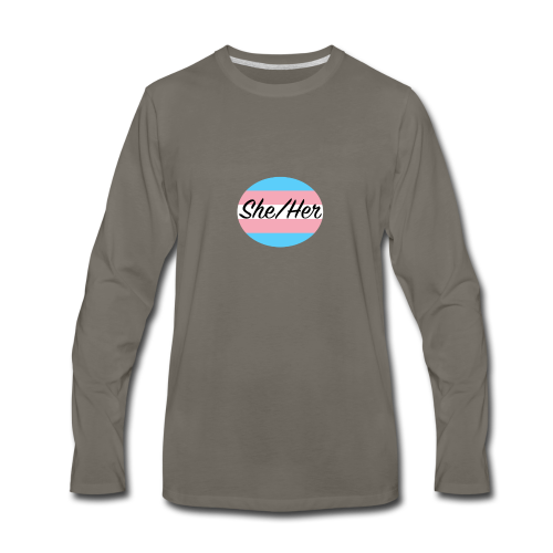 She/Her - Men's Premium Long Sleeve T-Shirt