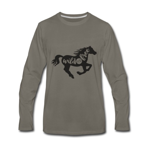 Wild and Free - Men's Premium Long Sleeve T-Shirt