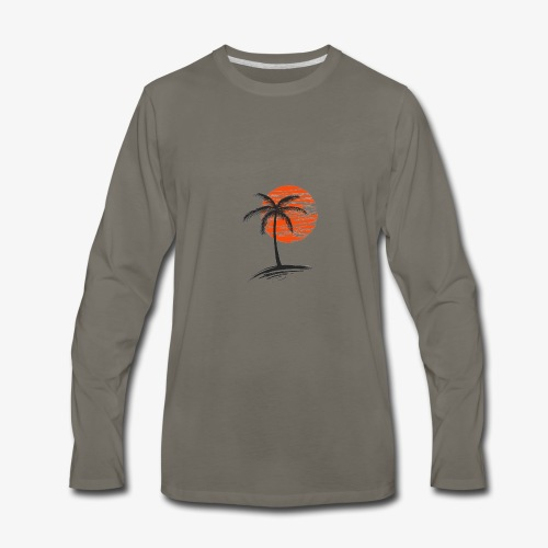 Palm Tree Original - Men's Premium Long Sleeve T-Shirt