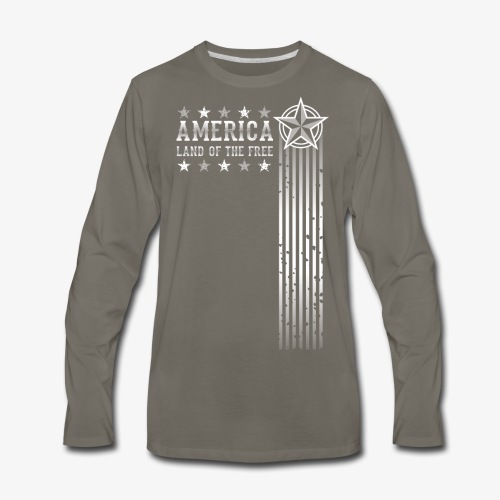 Land of the Free - Men's Premium Long Sleeve T-Shirt