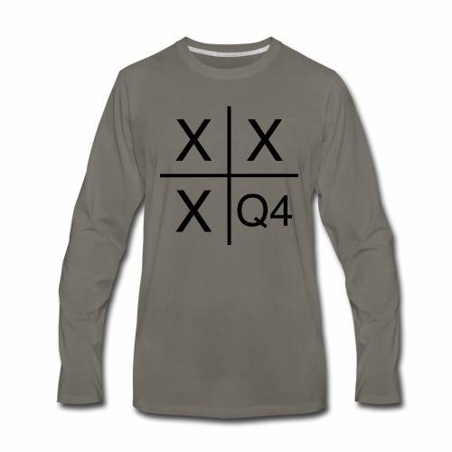 Quarter Four Hustle Hard - Men's Premium Long Sleeve T-Shirt