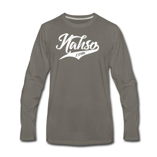White Nahso Logo - Men's Premium Long Sleeve T-Shirt