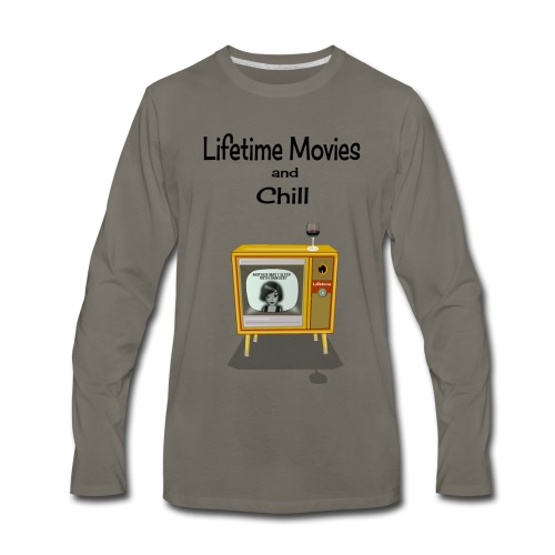 LIFETIME MOVIES AND CHILL - Men's Premium Long Sleeve T-Shirt