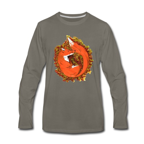 Sleepy fox - Men's Premium Long Sleeve T-Shirt