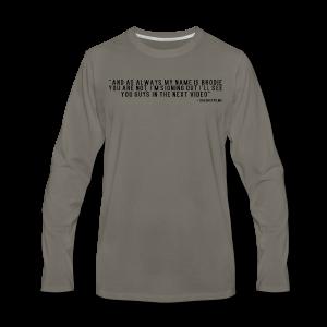 End Video Motto - Men's Premium Long Sleeve T-Shirt