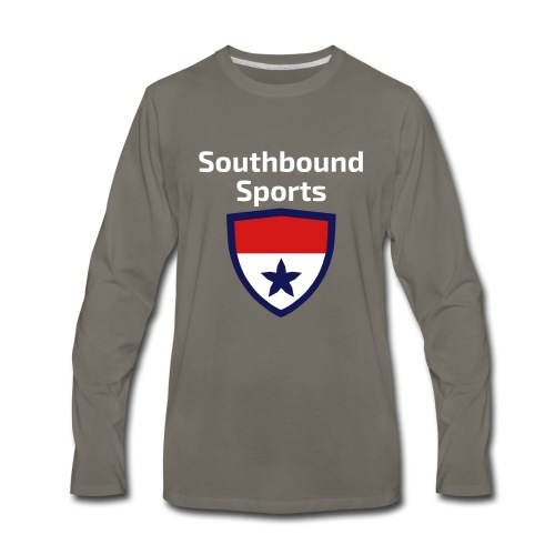 The Southbound Sports Shield Logo. - Men's Premium Long Sleeve T-Shirt