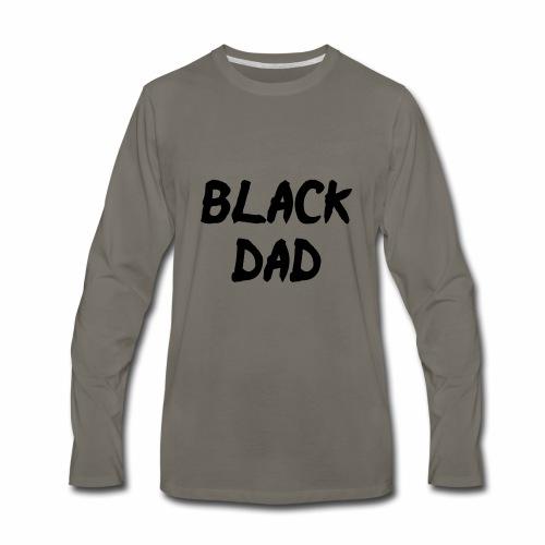 Black Dad - Men's Premium Long Sleeve T-Shirt