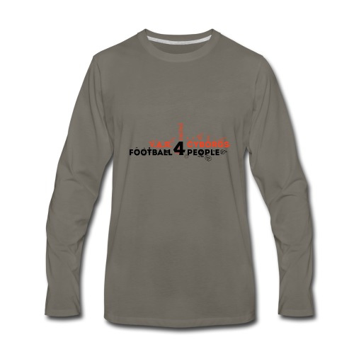 V.A.R. for Cyborgs. Football for People. - Men's Premium Long Sleeve T-Shirt