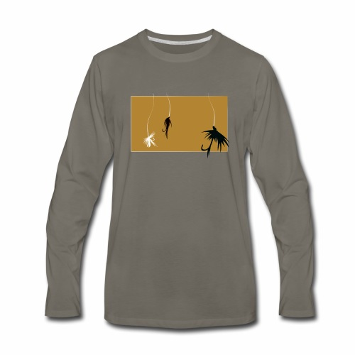 Fishing Shirt Flies - Men's Premium Long Sleeve T-Shirt