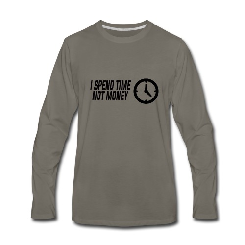 TIME NO MONEY - Men's Premium Long Sleeve T-Shirt