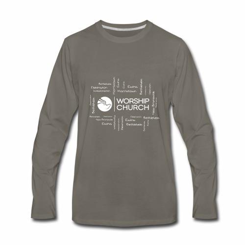 CAMPUS INGLES WIHTE 01 - Men's Premium Long Sleeve T-Shirt