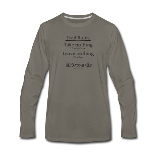 Trail Rules- Black - Men's Premium Long Sleeve T-Shirt