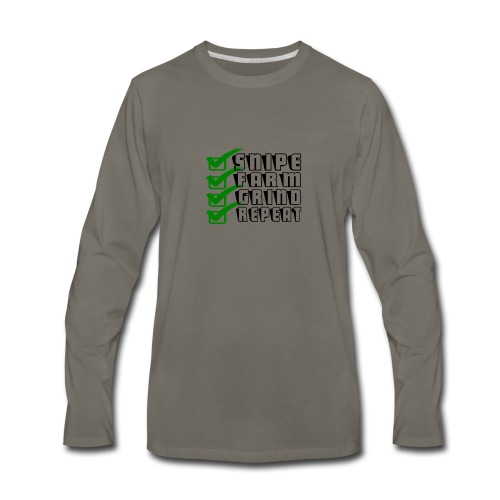 snipe farm grind repeat - Men's Premium Long Sleeve T-Shirt