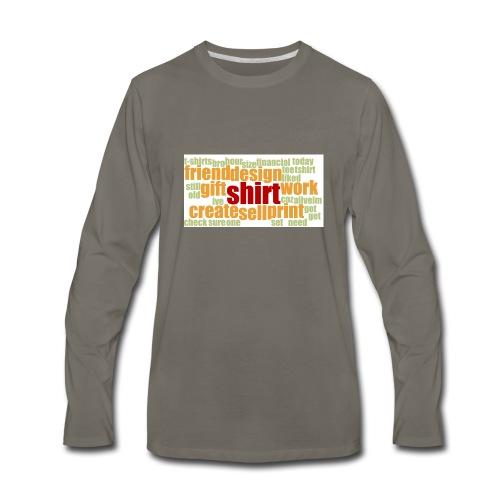 HotjarHomepagePoll2015 - Men's Premium Long Sleeve T-Shirt