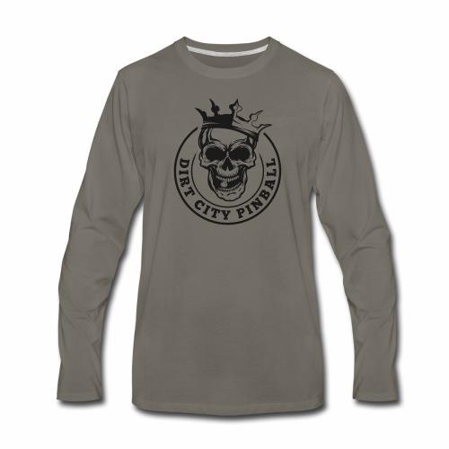 Dirt City Pinball Black/White Logo - Men's Premium Long Sleeve T-Shirt