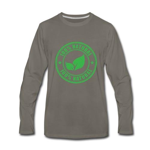 100 natural Organic Crunchy - Men's Premium Long Sleeve T-Shirt