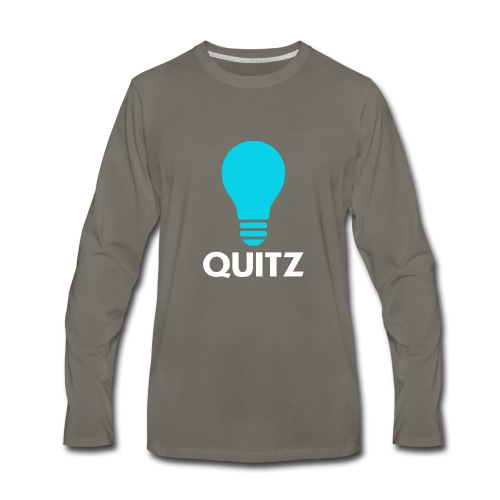 Quitz Blue w/ white text - Men's Premium Long Sleeve T-Shirt