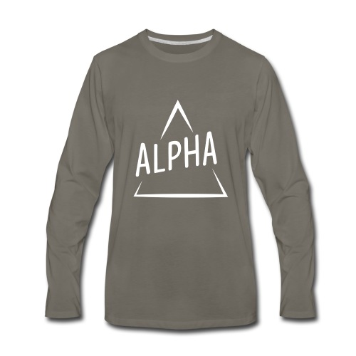 Alpha Brand - Men's Premium Long Sleeve T-Shirt