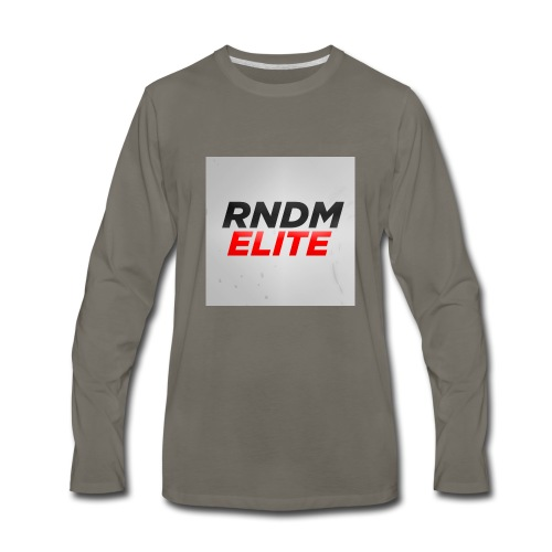 RNDM ELITE logo - Men's Premium Long Sleeve T-Shirt